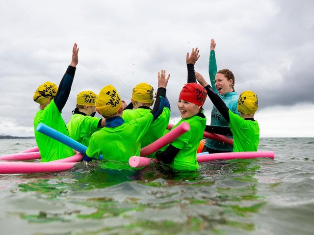 Children are being encouraged to take part in the free sessions: Picture Credits:  RNLI/Erik Woolcott and RNLI/Nathan Williams