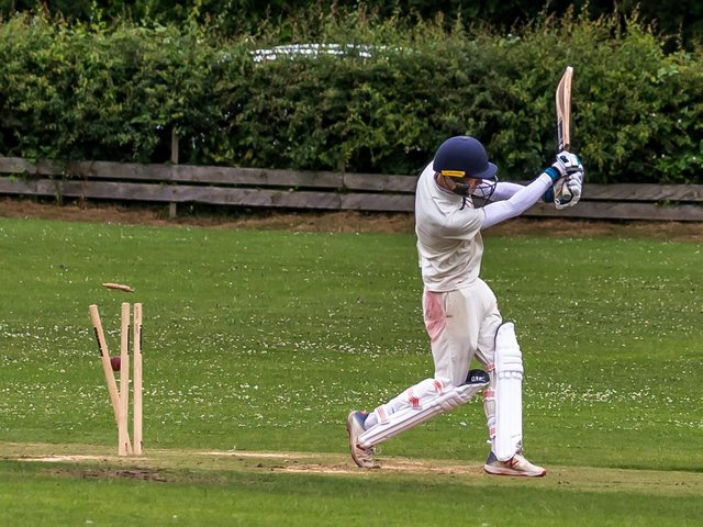 A Seamer 2nds wicket falls at Fylingdales  Photo by Brian Murfield