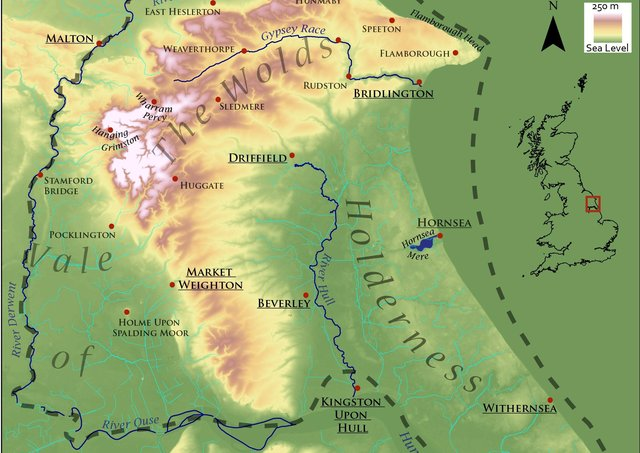 The proposed Geopark would complement the bid for Yorkshire Wolds to become an Area of Outstanding Natural Beauty. Map submitted.The proposed Geopark would complement the bid for Yorkshire Wolds to become an Area of Outstanding Natural Beauty. Map submitted.