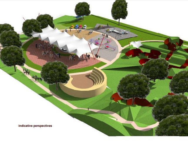 An artist's impression of the new outdoor facility in Cayton.