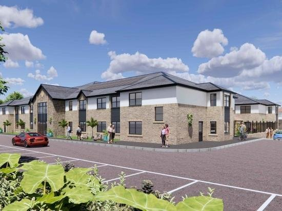 Artists' impression of the 66-bed care home, which has been approved now for the site at Sneaton Castle, Whitby.