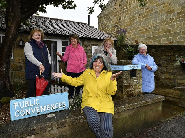 The Sweet Pea Committee are seeking donations after the recent revamp - Jackie Smith, left, Hazel Wray, Diz Dexter, Kaet Newton and Susan Crawford.