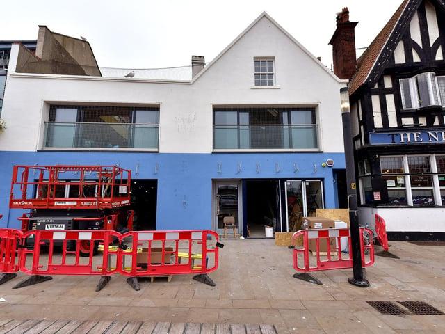 Builders are still hard at work at the Sandside venue.