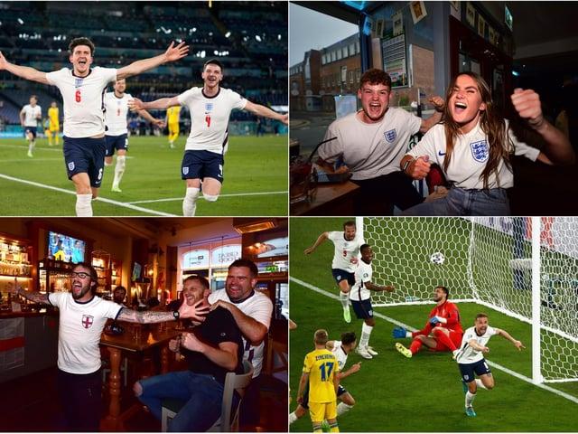 Scarborough fans' delight as England cruise to a 4-0 victory over Ukraine in Rome. (Photo: Getty/Alessandro Garofalo/ Alessandra Tarantino)