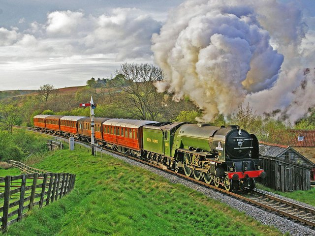 60163 Tornado at Abbots House, south of Goathland.  Picture: John Hunt