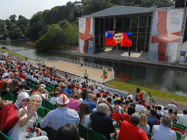 Fans watch England v Germany at Scarborough Open Air Theatre in 2010. Picture: JPI Media/ Richard Ponter