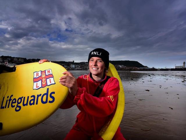 Rookie lifeguard Carolina Clements - Pic: Richard Ponter