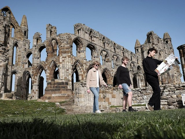 Visitors to Whitby Abbey earlier this year.