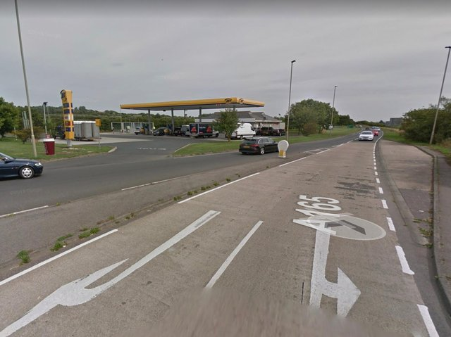 The incident occured in a lay by close to the Jet Garage at Lebberston on the A165 towards Filey. Picture: Google Maps