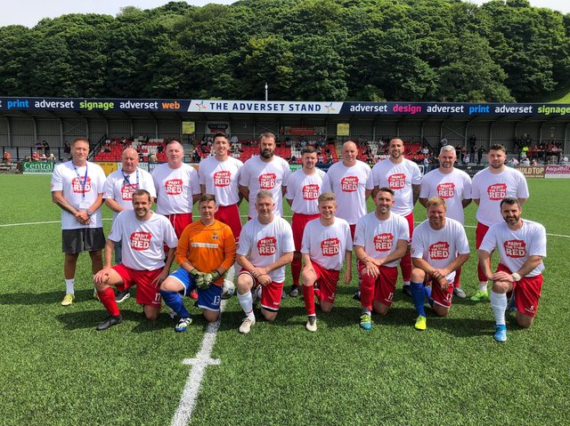 The winning Scarborough Athletic Legends squad line up