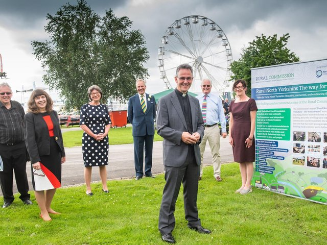 Rural Commissioners at the Great Yorkshire Show after the launch of their report.