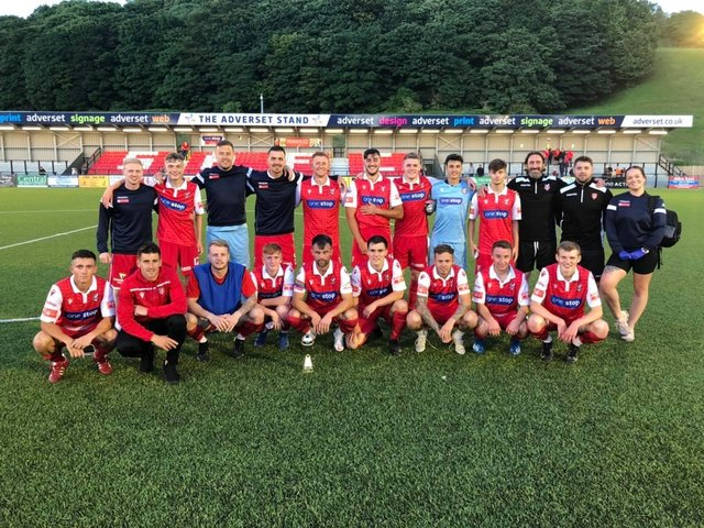 Scarbrough Athletic's squad v Brid Town
