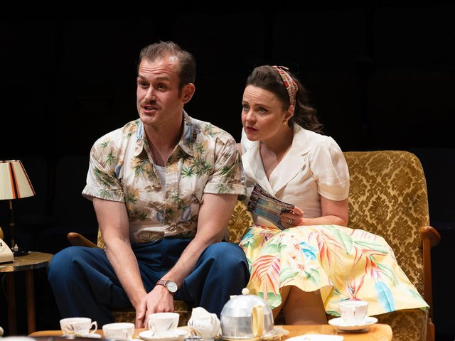 Vicky Binns and Sam Jenkins-Shaw in Home, I'm Darling