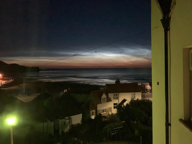 The sky light seen from Sandsend at 1am.