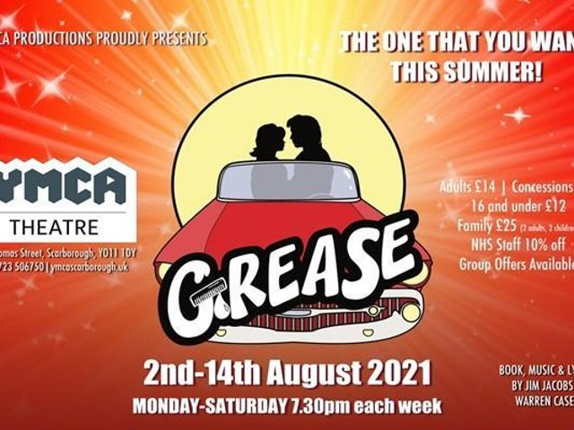 Grease opens at the YMCA Theatre, Scarborough, opens on Monday August 2 and runs until Saturday August 14