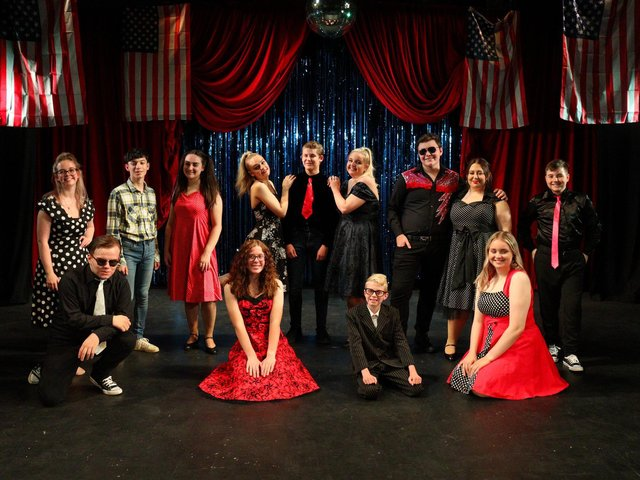 The cast of the musical which is on at the YMCA in Scarborough until August 14