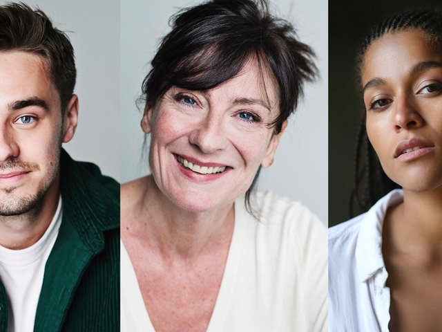 James Gladdon as Robert, Cate Hamer as Dulcie and Ingvild Lakou as Romy