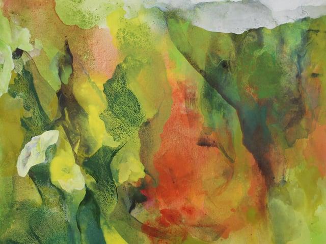 Landscape with flowers - Peter Hicks : image copyright Tony Bartholomew