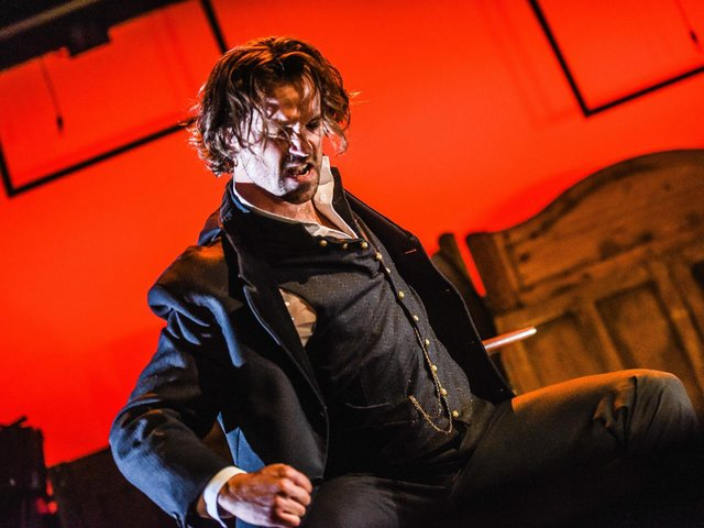 Blake Kubena transforms into Hyde in the stage version of Robert Louis Stevenson classic story