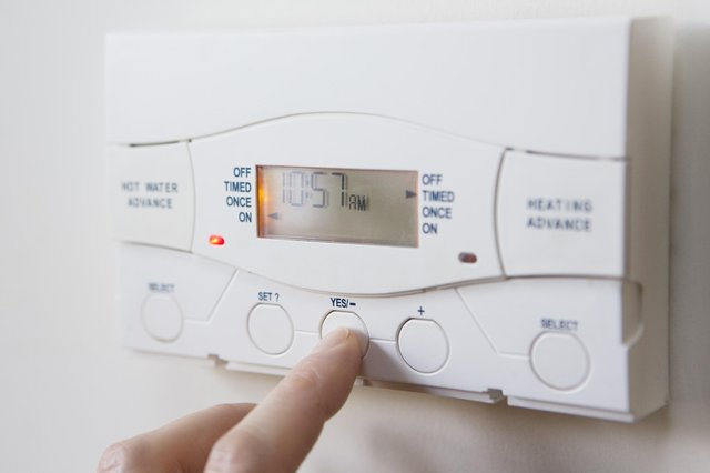 If you have a timer on your central heating system, set the heating and hot water to come on only when required.