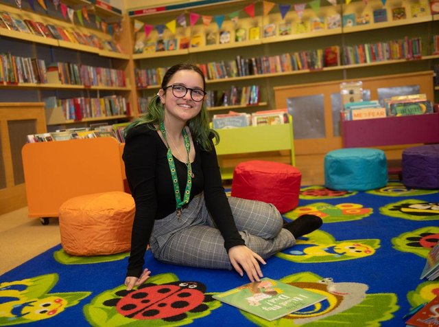 Alliyah Ishaq, 16, started volunteering with the Summer Reading Challenge after a member of the library staff visited her school